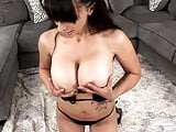 Big Tit Lesbian Talks Dirty and Plays With Her Oiled Tits.