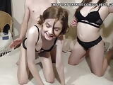 College students foursome doggy and blowjob on webcam p1