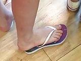Candid brazilian teen feet in flip flops