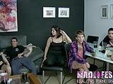 While alexa masturbates, Alba deepthroats a big cock!!!