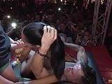 Apolonia bursts Barcelona Erotic Show