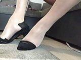 TS, Nylonfeet, High Heels, Women, Anal, Dildo