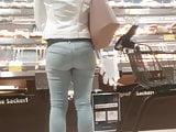 Tight teen jeans ass
