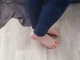 Freinds Candid Bare Feet