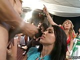 Crazy party girls cumshot and shallow