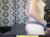 Funny reaction to webcam cock reveal