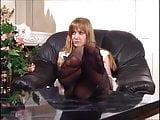 Russian pantyhose feet tease