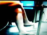 Marias legs and feet show. I finally found her footage