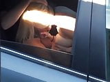 Girlfriend fucking stranger in backset of car