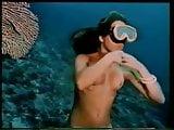 Underwater striptease