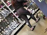 Candid ebony sweatpants with vpl