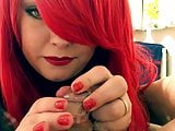 Mistress Teases Smoking Then Forces Chastity Cage On - Fetis