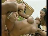 Hot young girls Bettina and Chipy fucked by a big hard cock