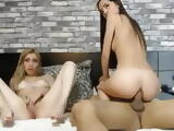 Three is not a crowd for these hotties on cam having fun
