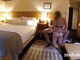 Brunette with a delicious body has sex at the hotel