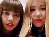 Lisa and rose kiss